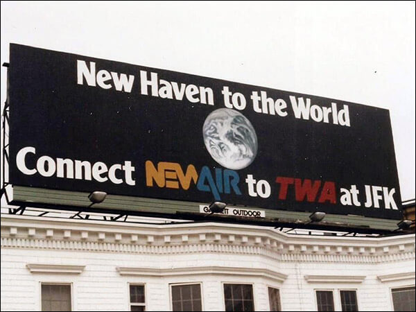 NewAir Billboard in CT - New Haven To The World